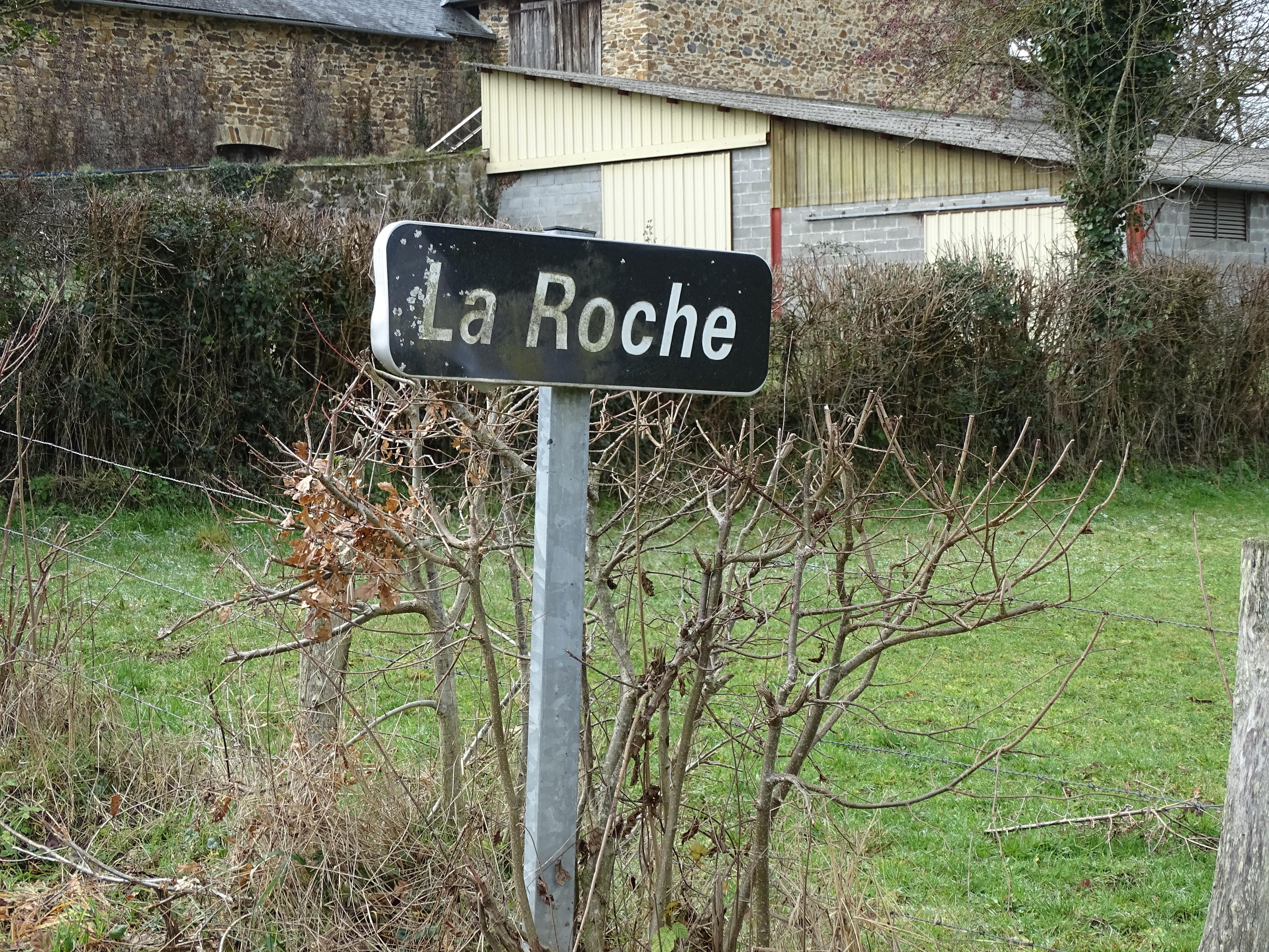 Street sign of La Roche